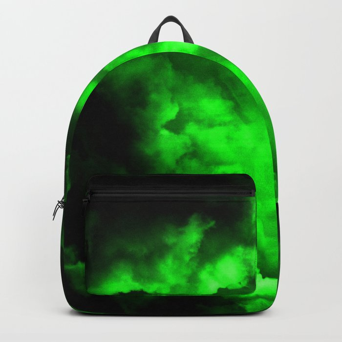 Envy - Abstract In Black And Neon Green Rucksack