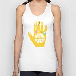 Seize the day – Sunshine hand Unisex Tank Top