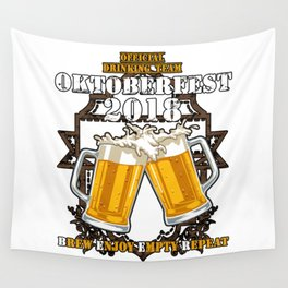 OKTOBERFEST SHIRT - Official Drinking Team 2018 Wall Tapestry