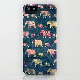 Colorful Elephants iPhone Case