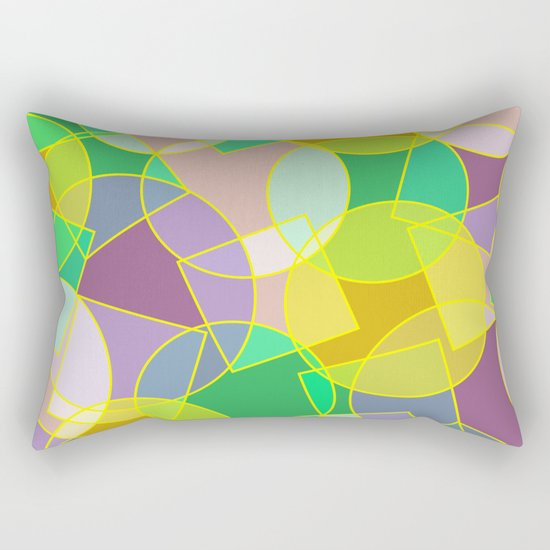 Colorful abstract geometric pattern Rectangular Pillow