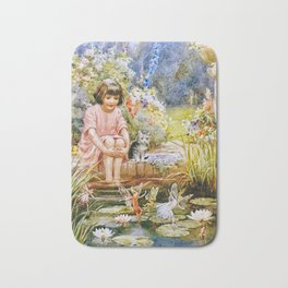 """Waterlily Pond"" by Margaret Tarrant Bath Mat"