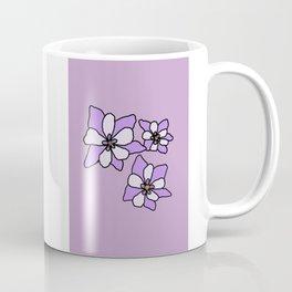 Purple Columbines Illustration Coffee Mug