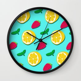 Fruit Party #society6 #decor #buyart Wall Clock