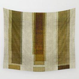 """Burlap Texture Greenery Columns"" Wall Tapestry"