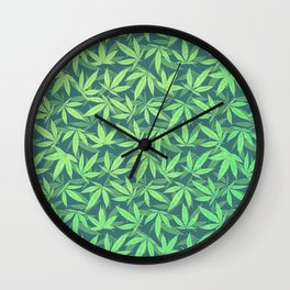Cannabis / Hemp / 420 / Marijuana  - Pattern Wall Clock