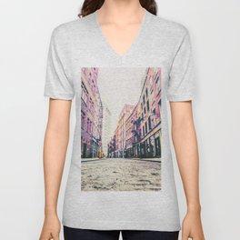 Stone Street - Financial District - New York City Unisex V-Neck