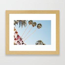 Palm Springs palmtrees Framed Art Print