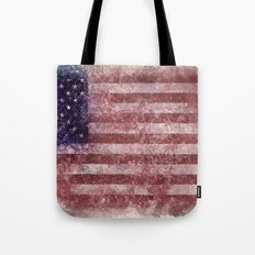US Flag worn out Tote Bag