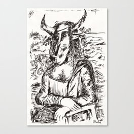 Minotaur Lisa  Canvas Print