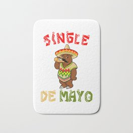 Single De Mayo - California Bear - Cinco De Mayo Bath Mat