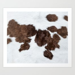 Beef bull cow cows pattern decoration Art Print