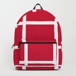 abstraction from the flag of denmark Backpack