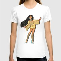 pocahontas T-shirts featuring Diva, Pocahontas by Anthony Michael