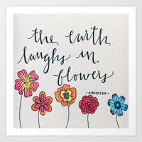 """The Earth laughs in flowers"" Art Print"