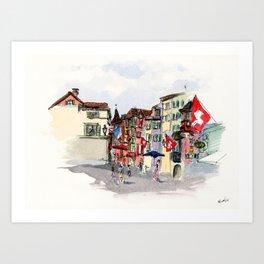 Zurich Art Print