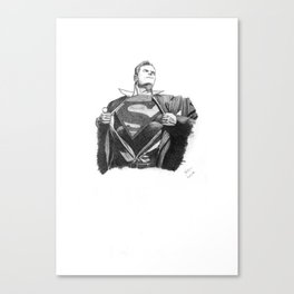 Superman Graphite Sketch Canvas Print