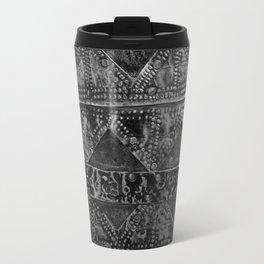 banded tin Travel Mug