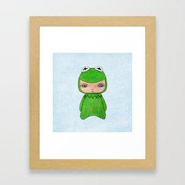 A Boy - Kermit the frog Framed Art Print