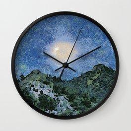 Starry Night Sunrise Wall Clock