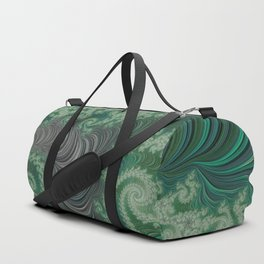 Green Spirals Duffle Bag