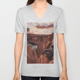 on top of the rock Unisex V-Neck