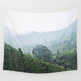 Zen - Tea plantation Wall Tapestry