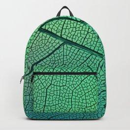 Abstract transparent leaf veins with green Venas de hojas transparentes abstractas con verde Backpack