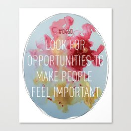 Important Opportunities Canvas Print