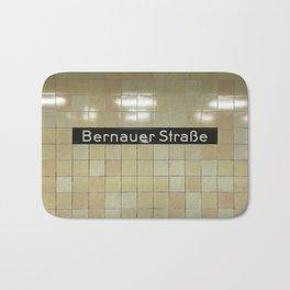 Berlin U-Bahn Memories - Bernauer Straße Bath Mat