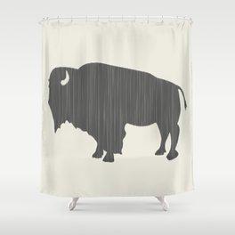 Buffalo Silhouette Shower Curtain