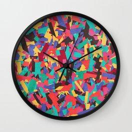 Seamless Colorful Geometric Pattern V Wall Clock
