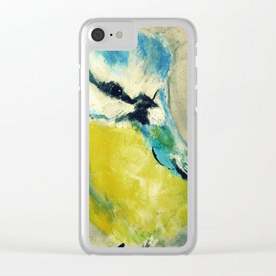 Blue Tit British Wildlife Acrylic Fine Art Clear iPhone Case