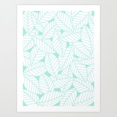 Leaves in Ocean Art Print