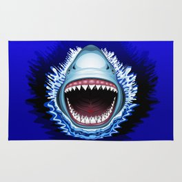 Shark Jaws Attack Rug