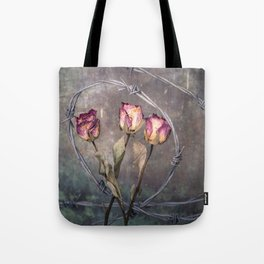 Trapped Roses Tote Bag