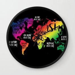 world map 137 #worldmap #map color Wall Clock