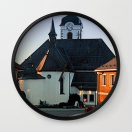 The village church of Vorderweissenbach | architectural photography Wall Clock