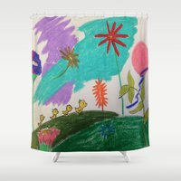 ducks Shower Curtains featuring ducks by SketchMaster