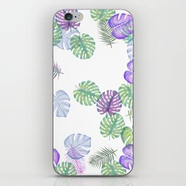 Tropical Spring Leaves (water colour) iPhone Skin
