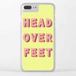 3D HEAD OVER FEET Clear iPhone Case