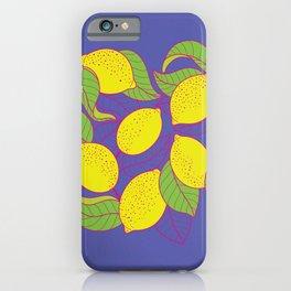 Juicy Lemons iPhone Case