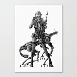 SCI-FI Woman Warrior Canvas Print