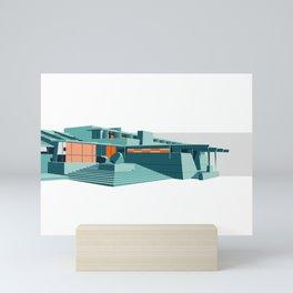 Southwestern Architecture Illustration Mini Art Print
