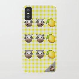Milk Milk Lemonade Emoji iPhone Case