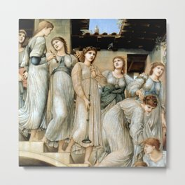 "Edward Burne-Jones ""The Golden Stairs"" Metal Print"