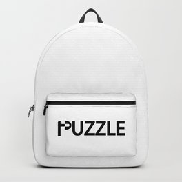 Puzzle being a puzzle / One word creative typography design Backpack