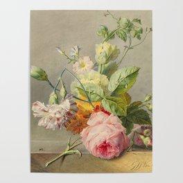 "George Jacobus Johannes van Os ""Floral Still Life"" Poster"