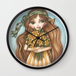 Daffodils Wall Clock