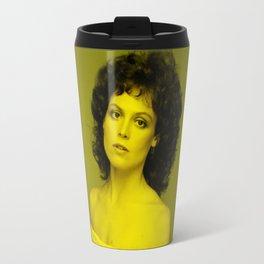 Sigourney Weaver - Celebrity (Florescent Color Technique) Travel Mug